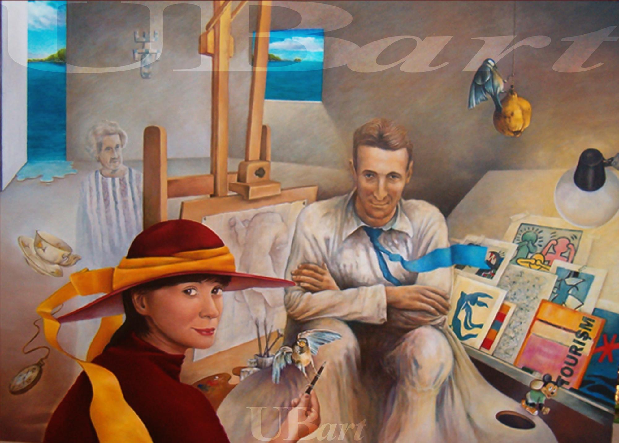 pintor con t de temporáneo